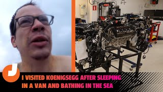 homepage tile video photo for I Visited Supercar Company Koenigsegg After Sleeping In A Van And Bathing In The Baltic Sea