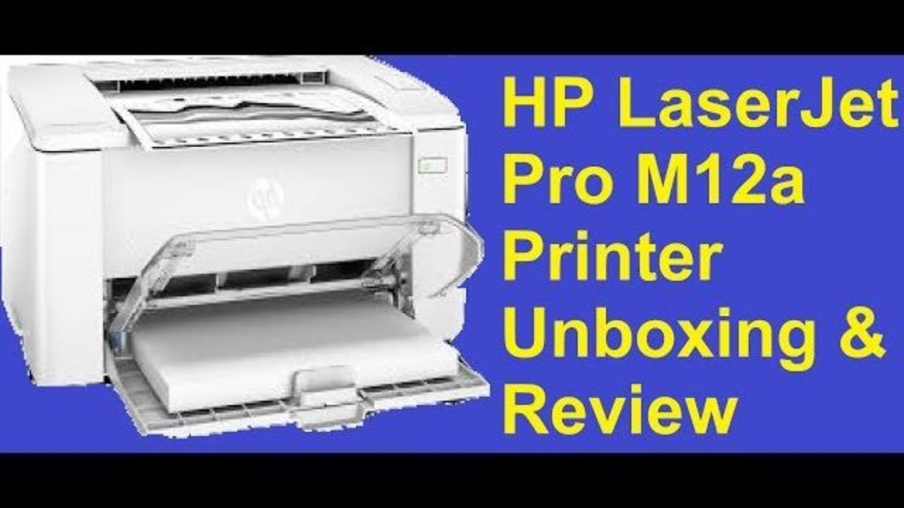 HP LaserJet Pro M12a Printer Unboxing & Review by Tech vally