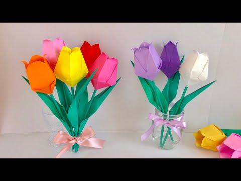 【折り紙】チューリップ  Origami Tulip