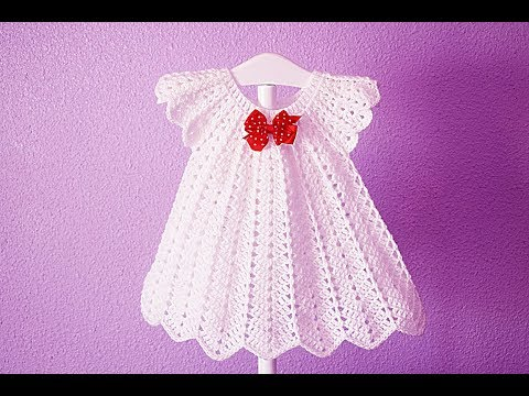 Crochet Christmas Party Dress White  Majovelcrochet #crochet