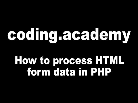How To Process HTML Form Data In PHP