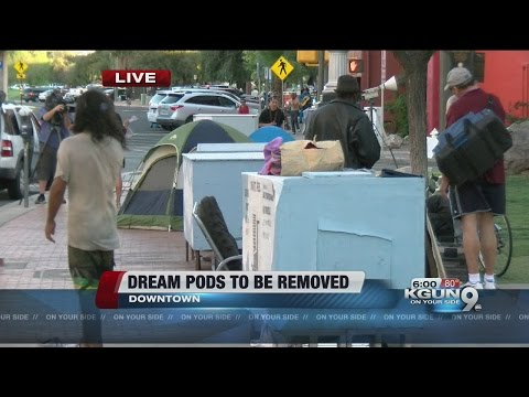 Tucson to clear homeless pods by end of week