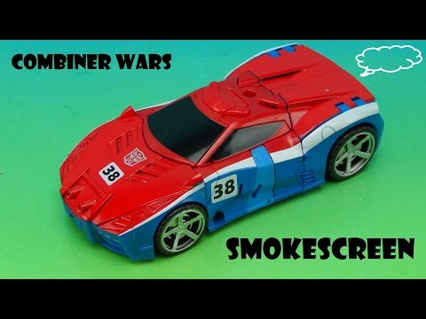 TRANSFORMERS SMOKESCREEN COMBINER WARS WARRIOR CLASS VIDEO