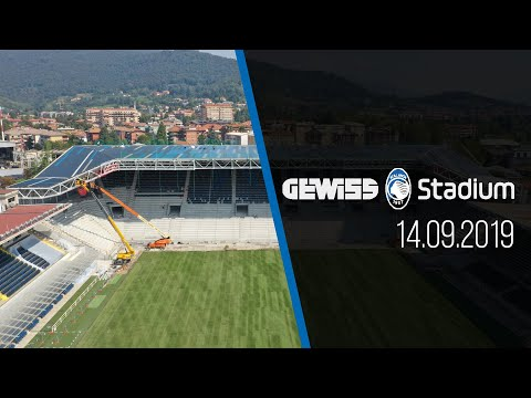 Gewiss Stadium, il progress in time lapse dei lavori