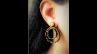 Quilling Chandbali Earring Tutorial/ Design 4
