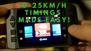 How fast is your escooter? 0-25km/h timings MADE EASY! :)