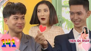 Lunch Date | Ep 141: Cat Tuong astounded to see loving finger hearts of boy couple