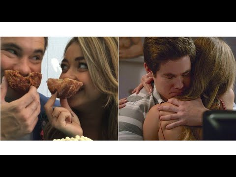 Adam Devine and Sarah Hyland (handy) couple moments