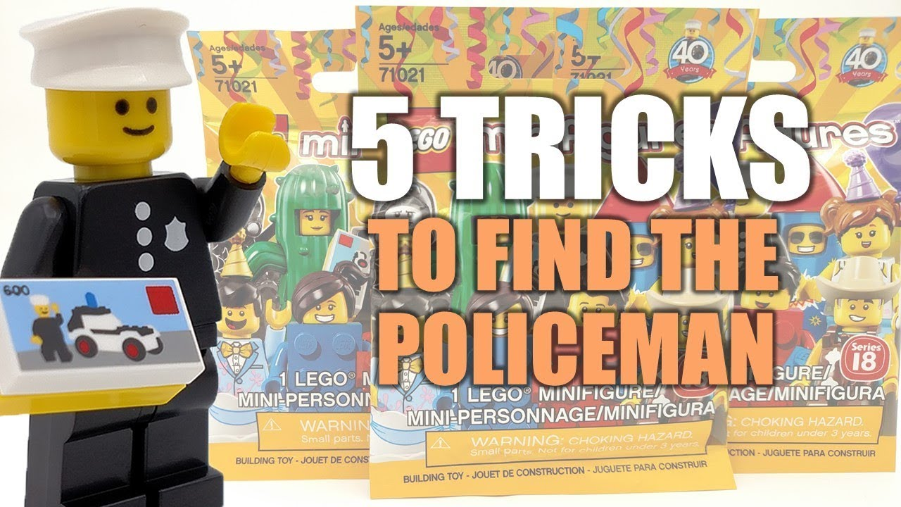 5 Tricks To Always Find The Lego Minifigures Series 18 Policeman