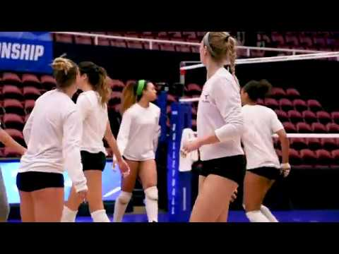 No. 2 Texas Volleyball practices from Stanford  [Dec. 7, 2017]