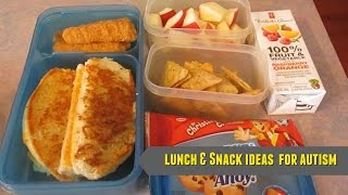 Lunch & Snack Ideas for Autism - May 8-12