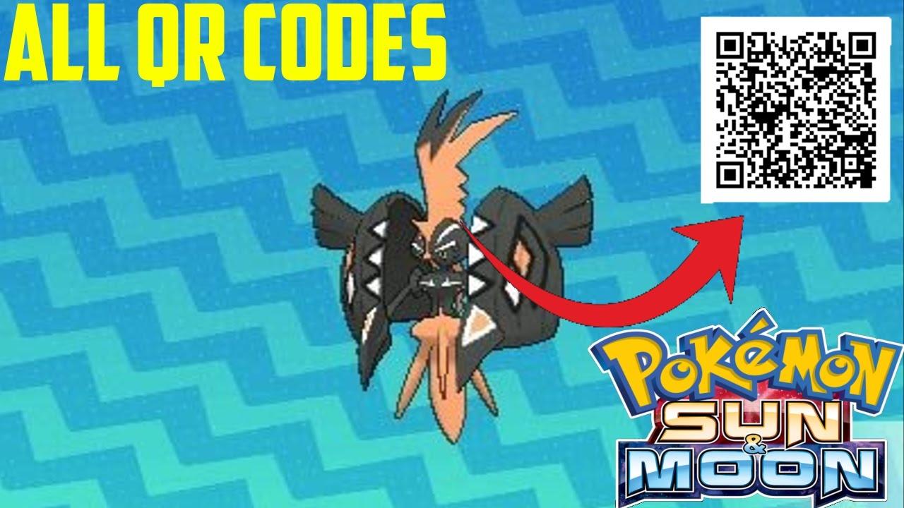 Pokemon Ultra Sun And Moon Shiny Qr Codes
