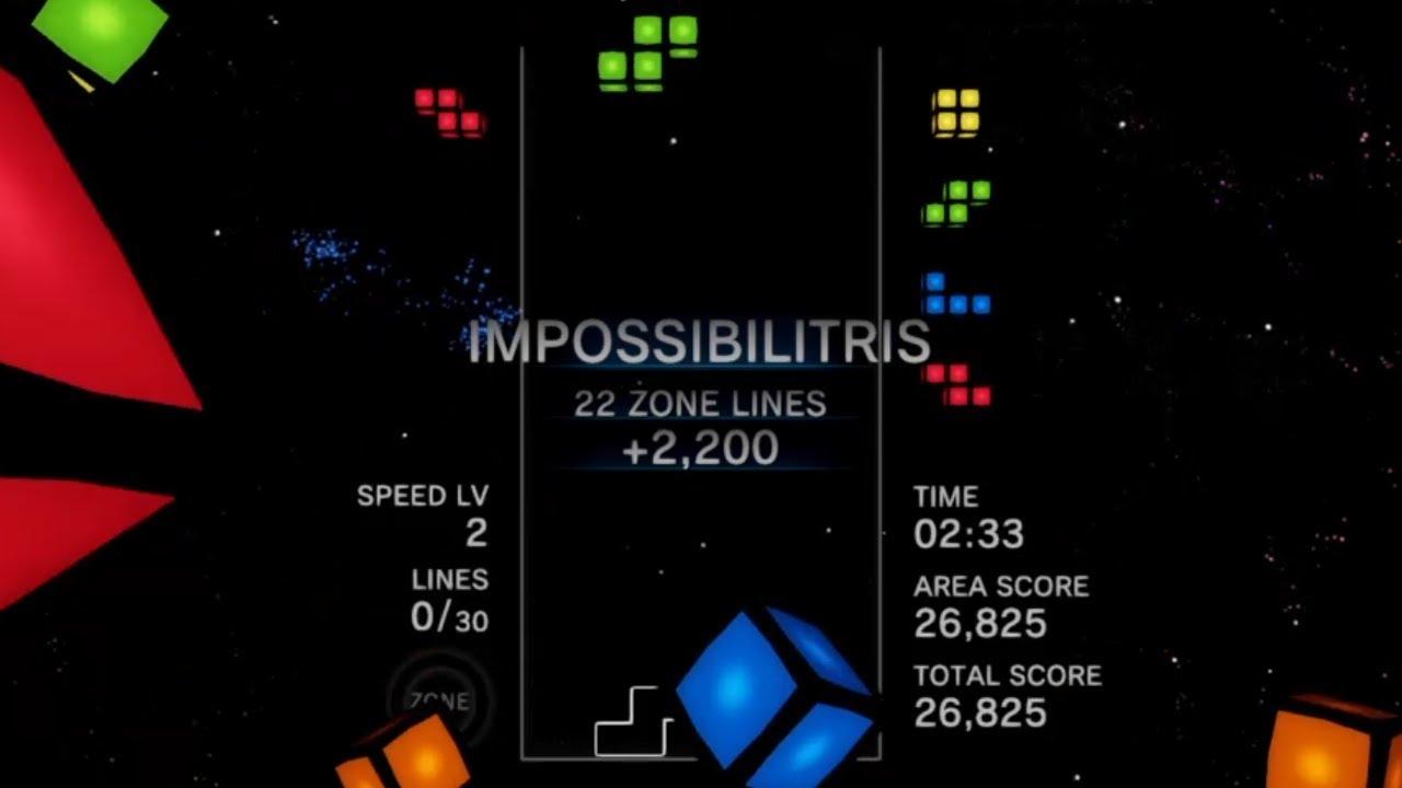 IMPOSSIBILITRIS (Tetris Effect WR - 22 zone lines