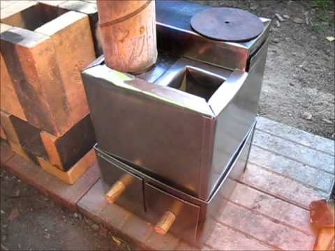 Rocket Stove Ideas 34 Brick Metal Box Rocket Stove