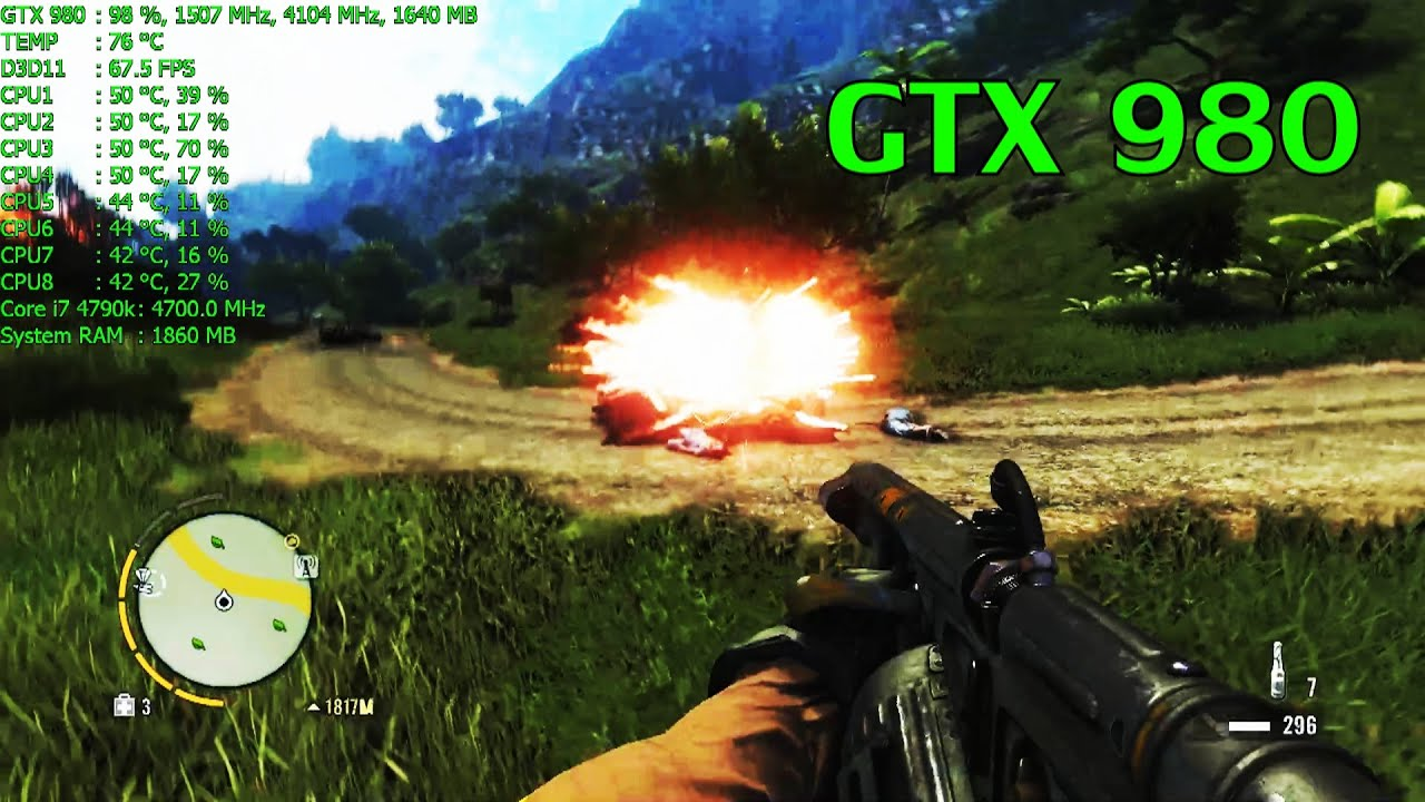 Far Cry 3 Ultra 8xmsaa 60fps Gtx 980 I7 4790k Youtube