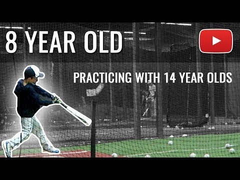 8YR OLD PLAYING WITH 14YR OLDS IN BASEBALL | ERIKTV365