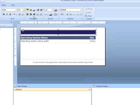 Configuration Manager 2012 - Summarizing Results with COUNT Statements in  SQL Report Builder