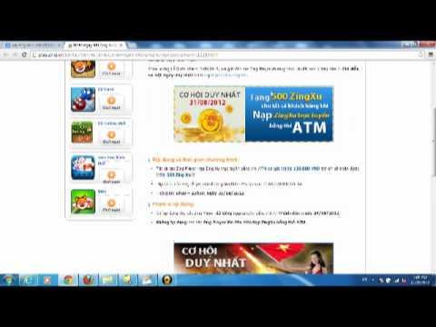 Napzingpay.Com tặng 5000 zing xu khi nap the zing Pay zing vn