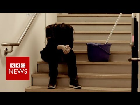 The college cleaner no-one knew was a slave - BBC News