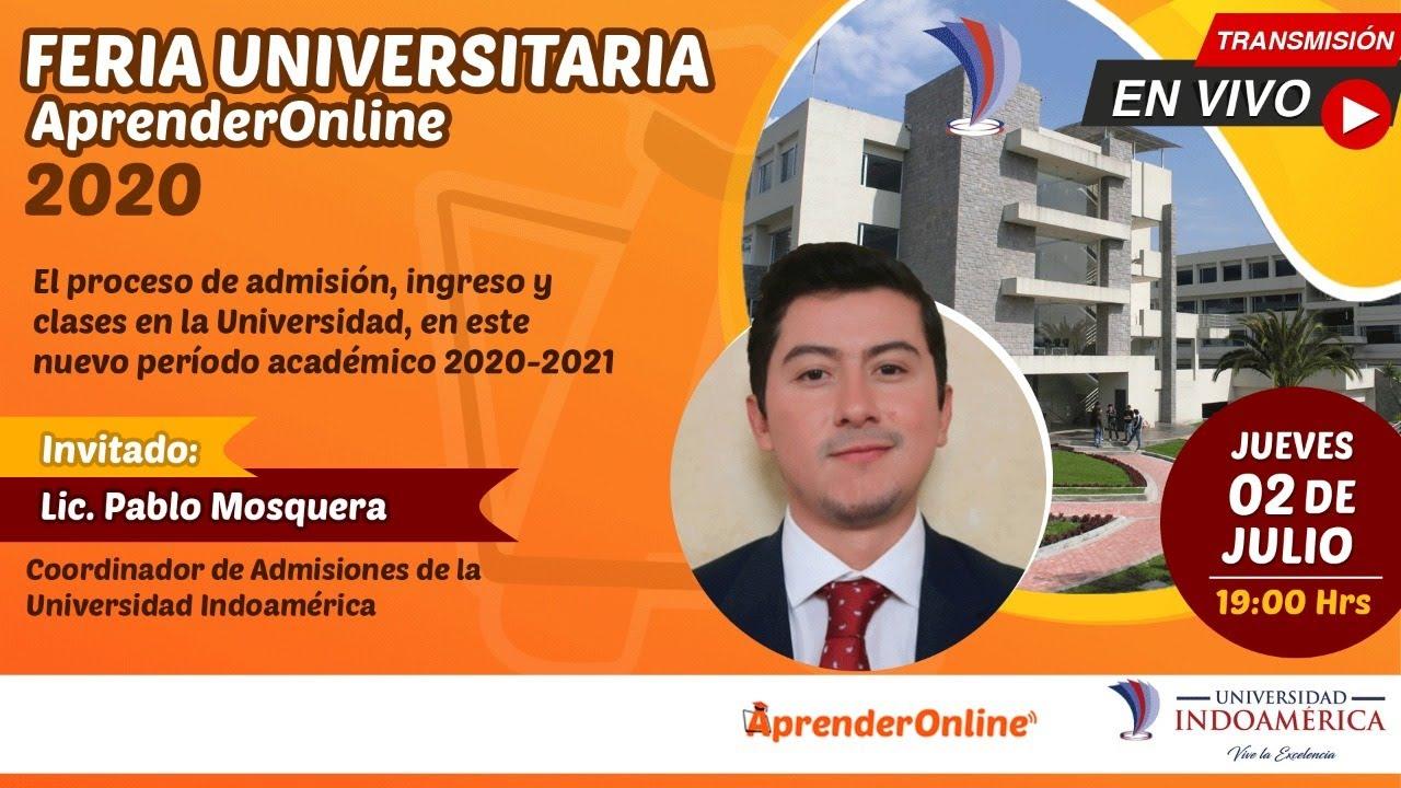 Feria Universitaria /  AprenderOnline 2020 / UNIVERSIDAD INDOAMÉRICA