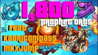 IDLE HEROES 1,800 Prophet Orbs & Branches ft. Kaoricompass + MKxJump