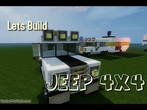 Minecraft: Lets Build Vehicle/ Jeep 4x4