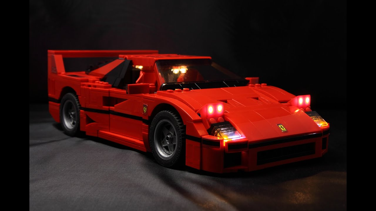 lego 10248 ferrari f40 led installed demo youtube. Black Bedroom Furniture Sets. Home Design Ideas
