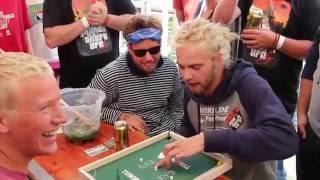 Amazing KLASK x Tuborg final game at Roskilde Festival 2016!