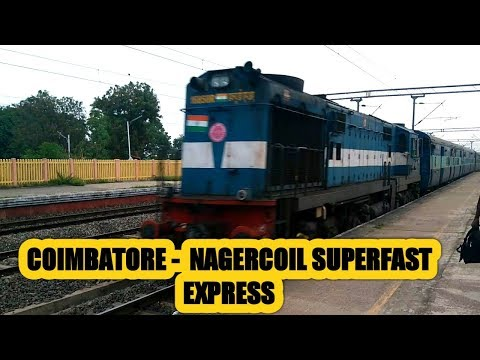 Coimbatore–Nagercoil SF Express Blasting Near Dindigul
