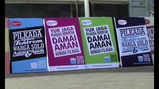Ajakan Pilkada Damai Melalui Pesan di Poster