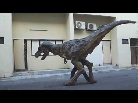 Baby T Rex Dinosaur Costume Movement Test No Sound