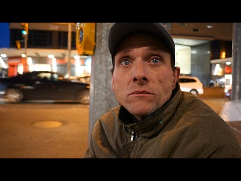 Toronto homeless man shares about how there is plenty of food and no one is going hungry.