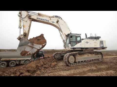 Komatsu PC800LC loading trucks and ADT´s