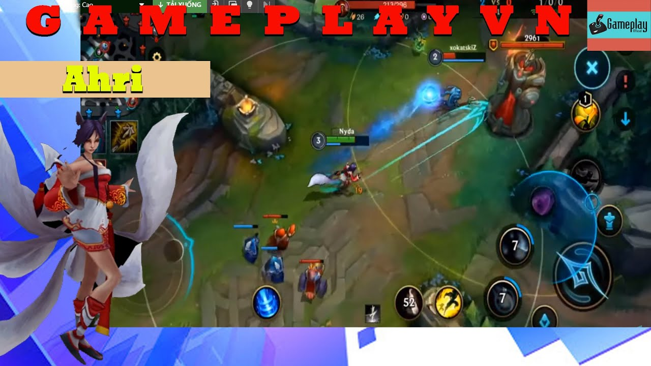 League of Legends - Wild Rift  Gameplay Ahri lol mobile