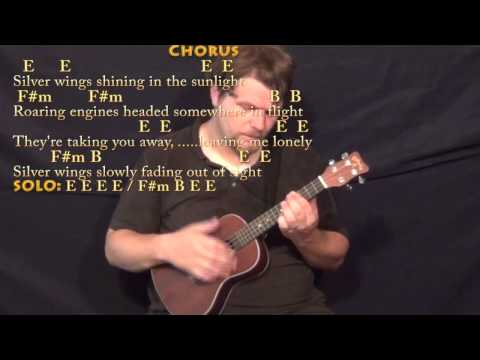 Silver Wings (Merle Haggard) Ukulele Cover Lesson in E with Chords/Lyrics