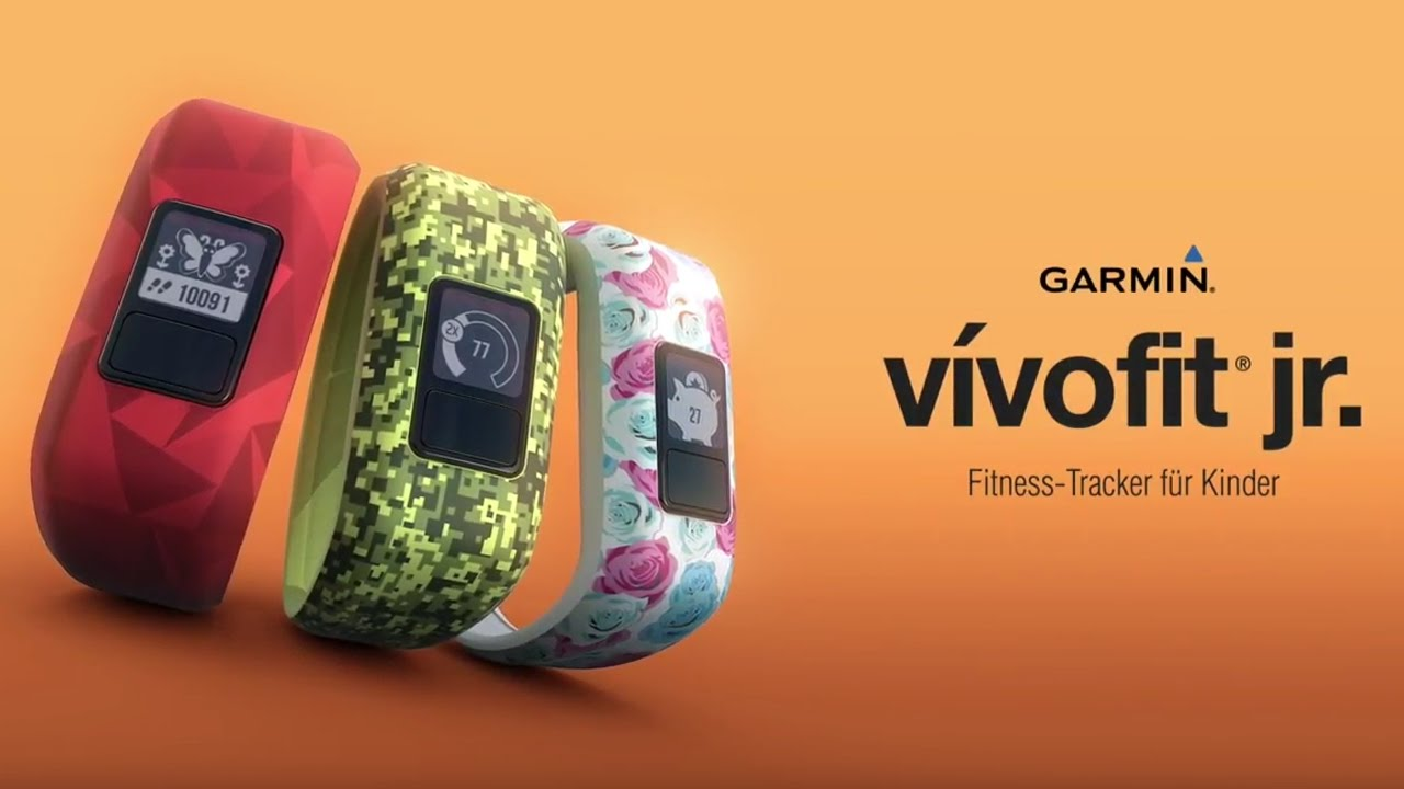 v vofit jr der fitness tracker f r kinder von garmin. Black Bedroom Furniture Sets. Home Design Ideas