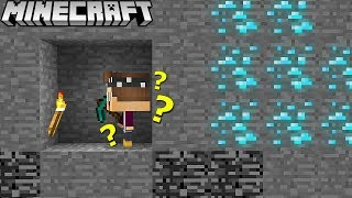 FINDEN WIR DEN DIAMANTEN IN 1 MINUTE IN MINECRAFT?
