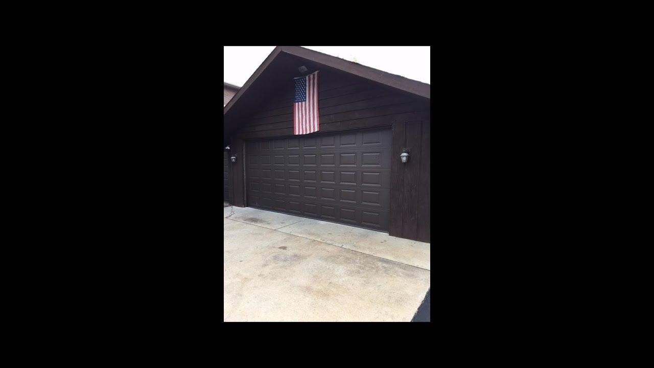 CHI 18x8 Model 2283 Brown Garage Door Downers Grove,il | 630 271 9343