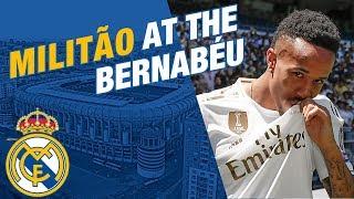 LIVE | Éder Militão takes to the Bernabéu pitch!