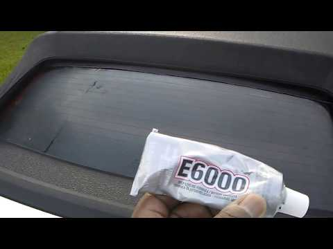 How To Fix A Convertible Mustang Rear Window That Comes Unglued or Falling out due to top shrinkage.