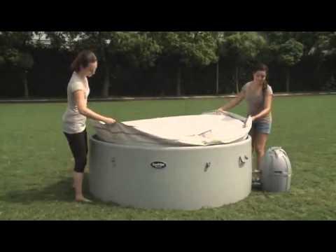 Installation du spa gonflable hydromassant luxury jet mspa doovi for Bruit spa gonflable