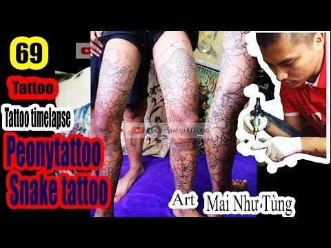 Đi khung hình xăm hoa mẫu đơn kín chân - Art: Tùng đen tattoo 0365932888 thạch bàn long biên hn