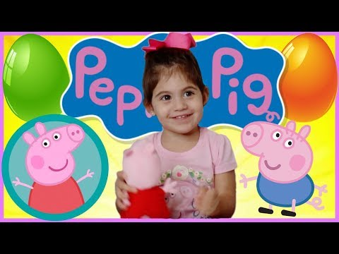 PEPPA PIG Pretend Toy Play With Egg Surprise Opening! Live PEPPA PIG SHOW
