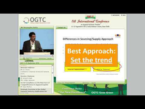 Strategic Overview of the Global Garment Industry Implications for Delhi-NCR - Mr Devangshu Dutta