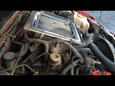 Nissan Mistral / Terrano II TD27 ETI 2.7 turbo diesel intercooled engine start up + rev sound