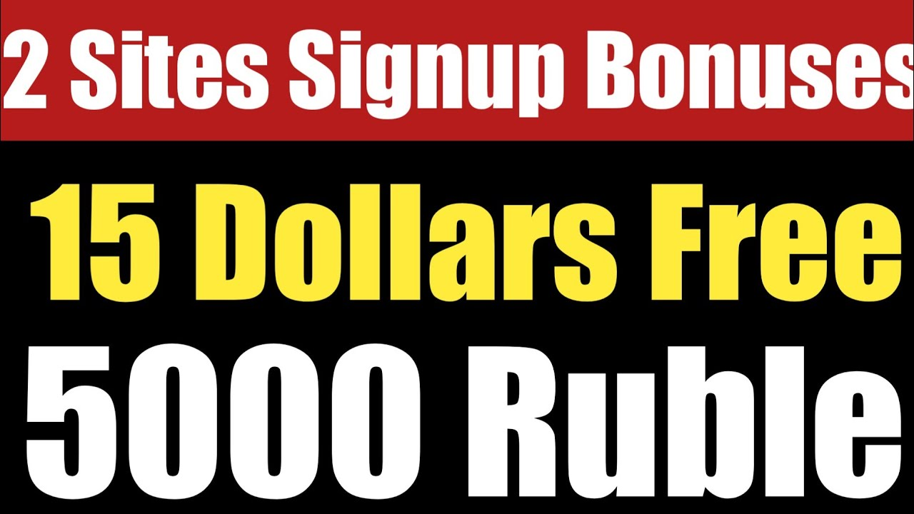 Get Free 15$ And 5000 Ruble Signup Bonus Free | Free Eth And Ruble ...