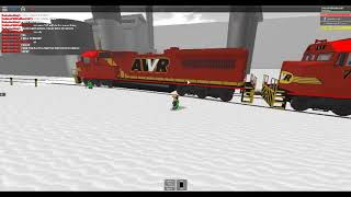 ROBLOX AWVR 777 & 767 Runaway Freight Train (Bloopers)