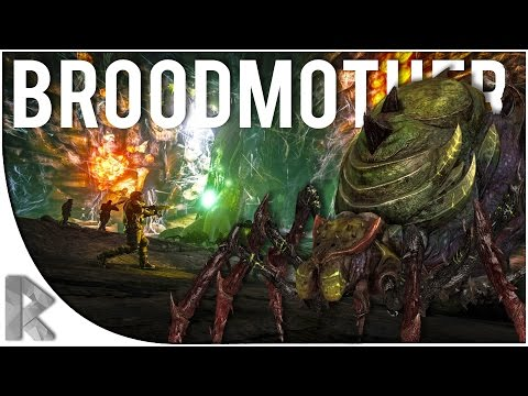 BROODMOTHER BOSS FIGHT! - Let's Play Ark Survival Evolved (PVP Gameplay S7P32)