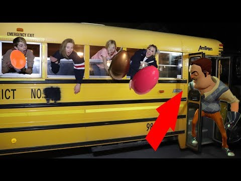Easter Egg Hunt with Money on School bus Hello Neighbor edition