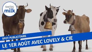 Spot publicitaire: vaches suisses et fête nationale